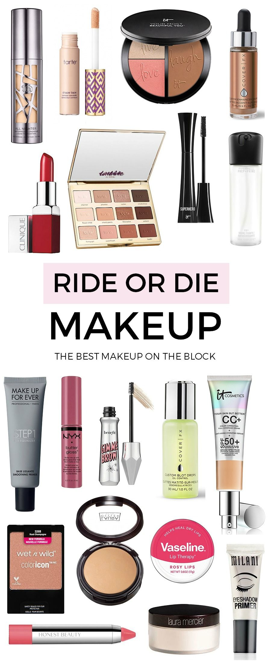 Ride or Die Makeup Kit Holy grail makeup items that are