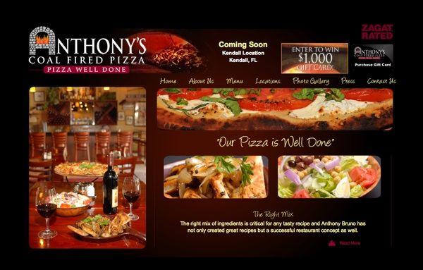 Anthony S Coal Fired Pizza Agamutz Marketing Fire Pizza Pizza Florida Restaurants