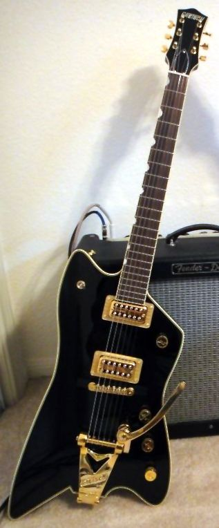 gretsch billy bo black thunderbird with gold bigsby cool guitars music guitar pedal steel. Black Bedroom Furniture Sets. Home Design Ideas