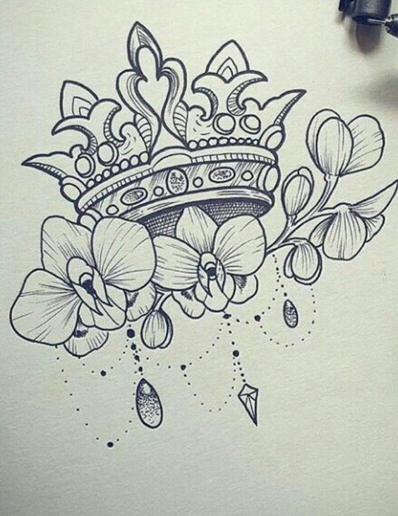 Photo of Crown tattoo/Korona tetoválás
