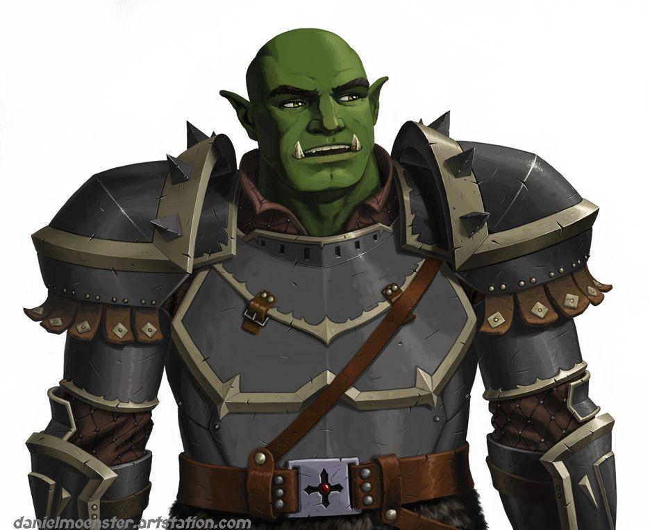 Half Orc Cleric Portrait