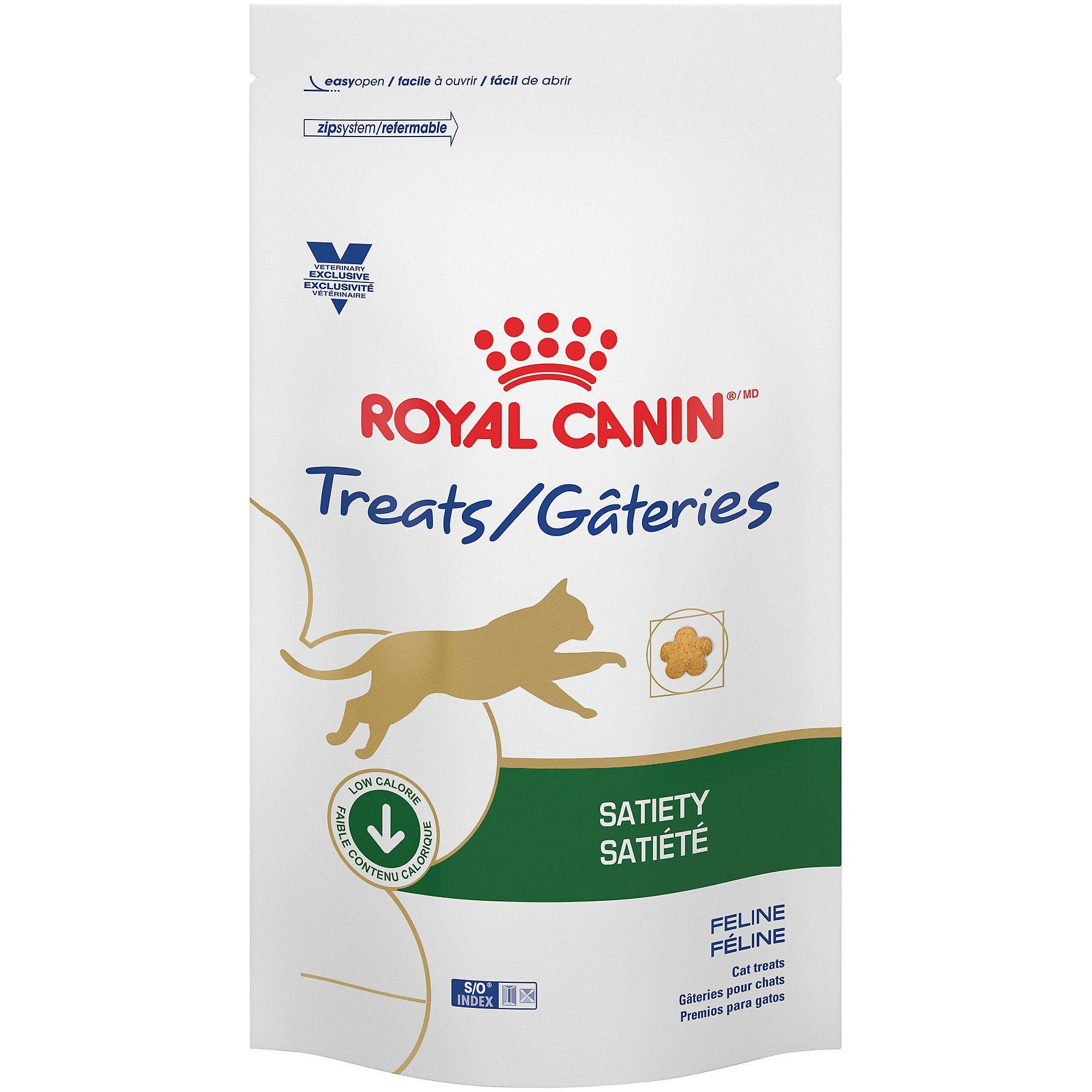 Royal Canin Veterinary Diet Satiety Cat Treats 7 7 Oz Cat Treats Cat Food Cat Fleas