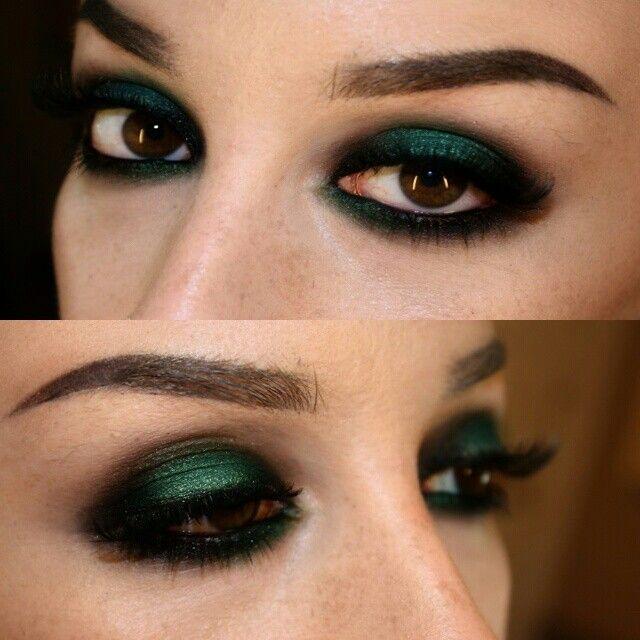 Nyx cosmetics hunter green cream shadow @mua_sarabeth