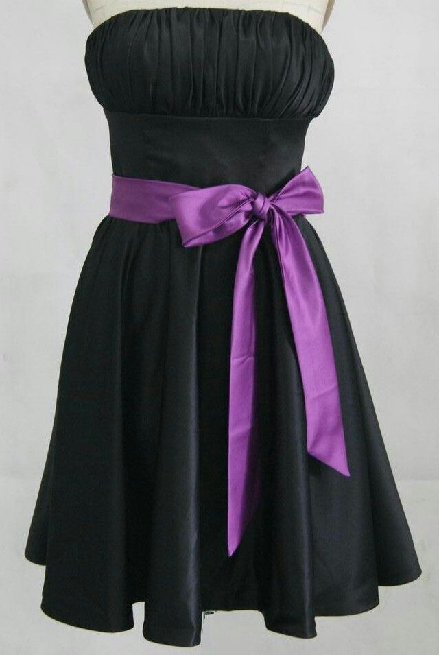 Beautiful black and purple dress | dresses | Pinterest | Purple ...