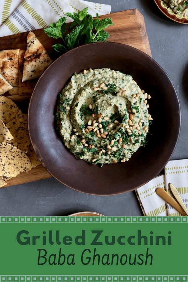 Grilled Zucchini Baba Ganoush | Tara Teaspoon