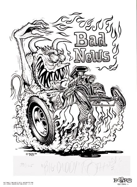 Pin By Gregory Ayers On Cool Van Rat Fink Cars Coloring