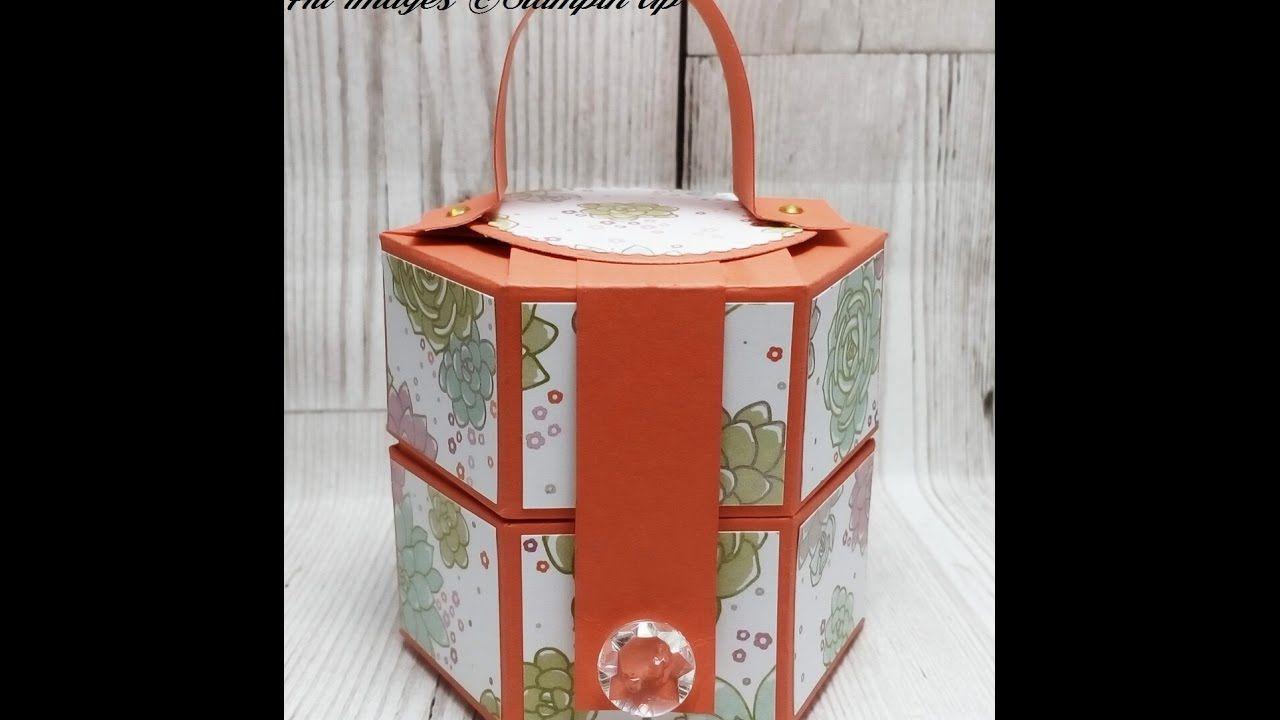 4 Spring Summer Sunday Cute Hexagonal Gift Box Diy Gift Box Gift Box Punch Board Box Bag Tutorial