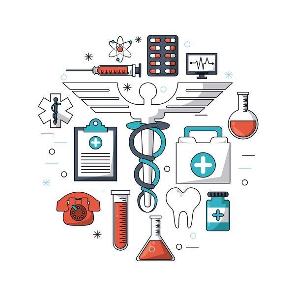 Medizinische Forschung-Vorlage-Vektorgrafik 05 - AI-Datei ...