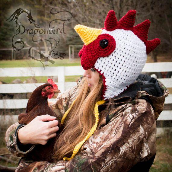 Chicken Hat Rooster Hat Adult Hat Halloween Mens Hat