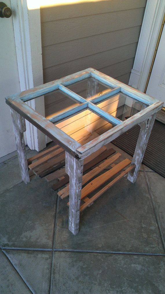 Gentil Reclaimed Window Coffee Side Table By Dharmadesigned On Etsy, $375.00