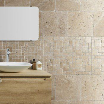 Grand Travertin Sol Et Mur Beige Effet Pierre Travertin L.40.6 X L.40.6 Cm |  Leroy Merlin