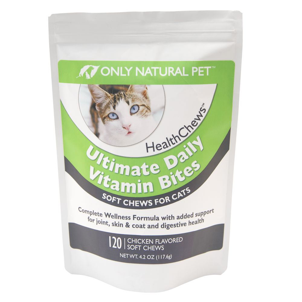 Only Natural Pet Ultimate Daily Vitamin Bite Soft Cat Chews Size