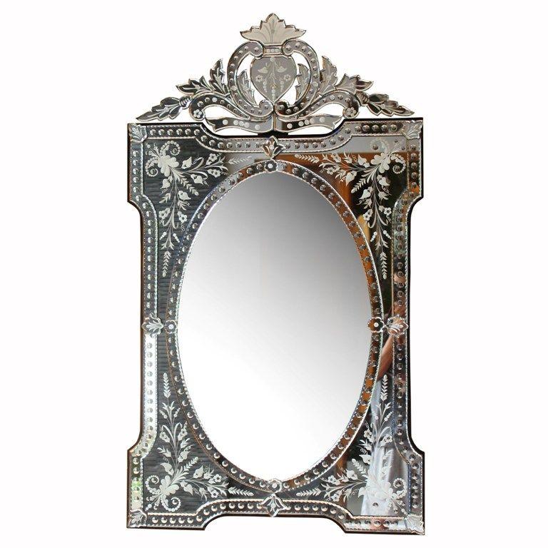 Venetian Mirrors Wall Mirror, Long Narrow Venetian Mirror