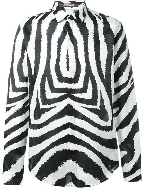 ROBERTO CAVALLI 'Zebra' Shirt. #robertocavalli #cloth #shirt