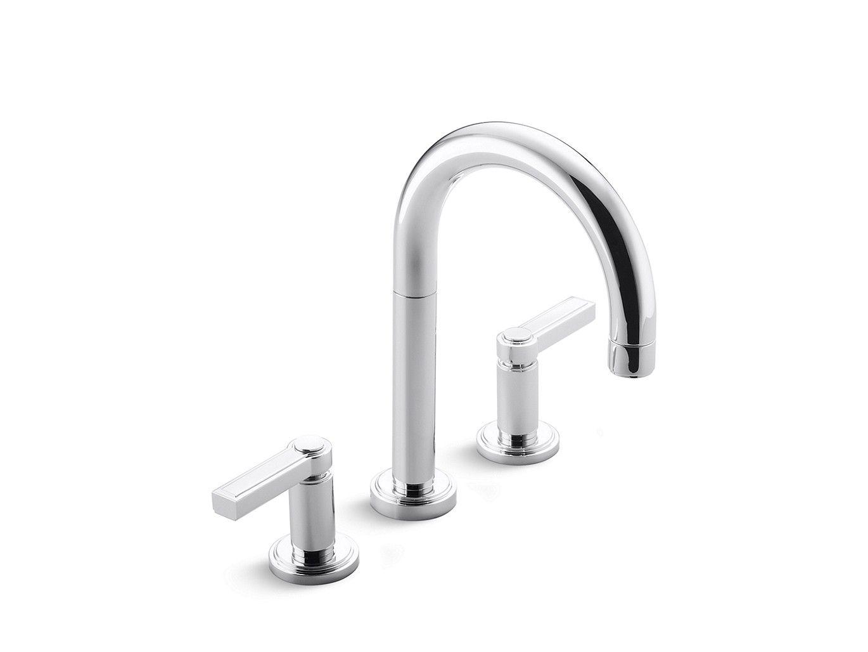 Vir Stil Minimal by Laura Kirar Sink Faucet, Lever Handles | P24131 ...