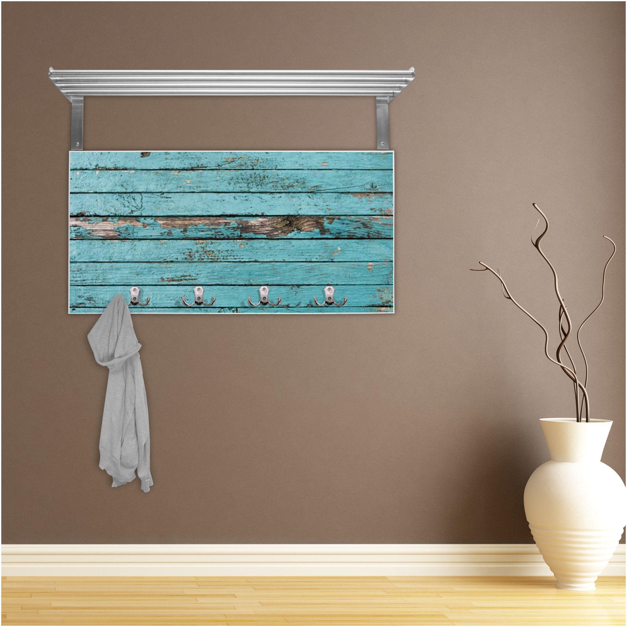 Entzückend Edelstahl Garderobe Sammlung Von Wand Haken Flur Hutablage Weiß Motiv Holz