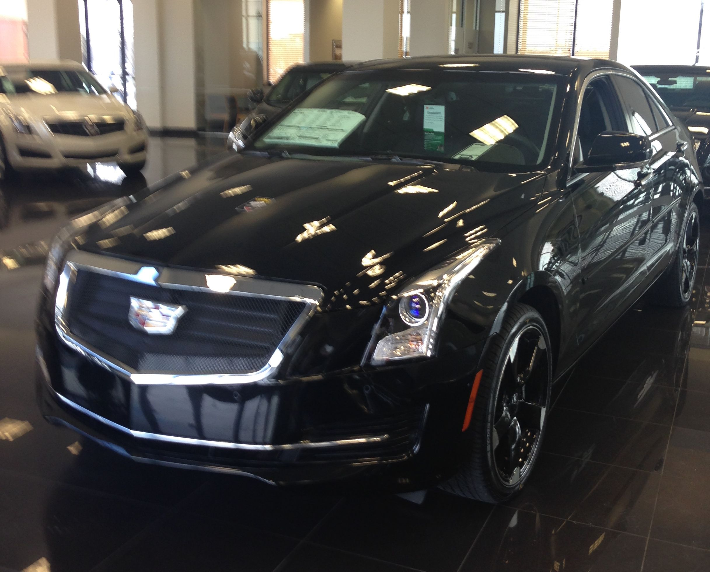 just arrived! new #cadillac ats onyx edition. #carlove #caddy