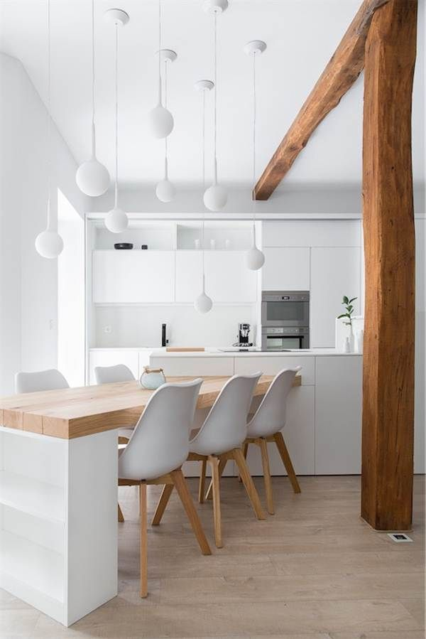 Blanco y madera en la cocina | Interiors | Pinterest | Kitchens ...