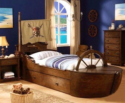 Sailboat Kids Furniture Cool Pirate Ship Beds For Kids For - Kids pirate bedroom furniture