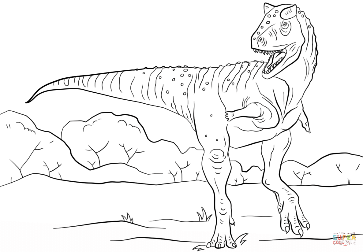 Jurassic Park Carnotaurus Coloring Page Free Printable Coloring Pages In 2021 Dinosaur Coloring Pages Dinosaur Coloring Dinosaur Pictures