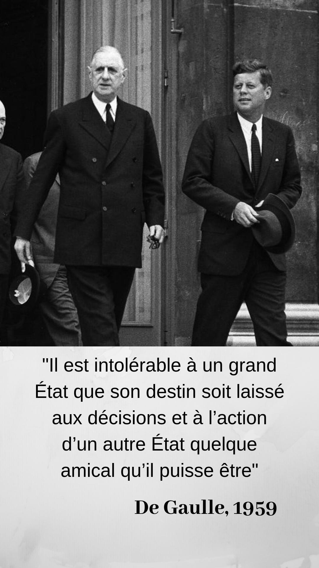 De Gaulle Il Faut Que La Defense De La France Soit Francaise Citation Politique Citation De Gaulle Proverbes Et Citations