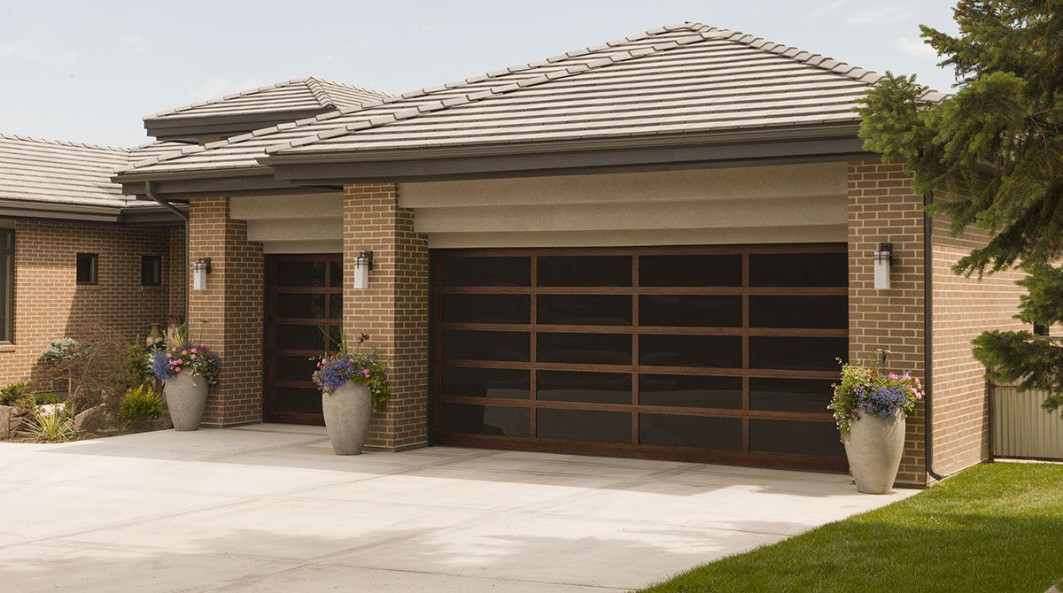 Modern garage door glass - Athena All Glass Garage Doors Are Beautiful Modern Garage Doors That Are The Ultimate Choice To Modernize Any Home