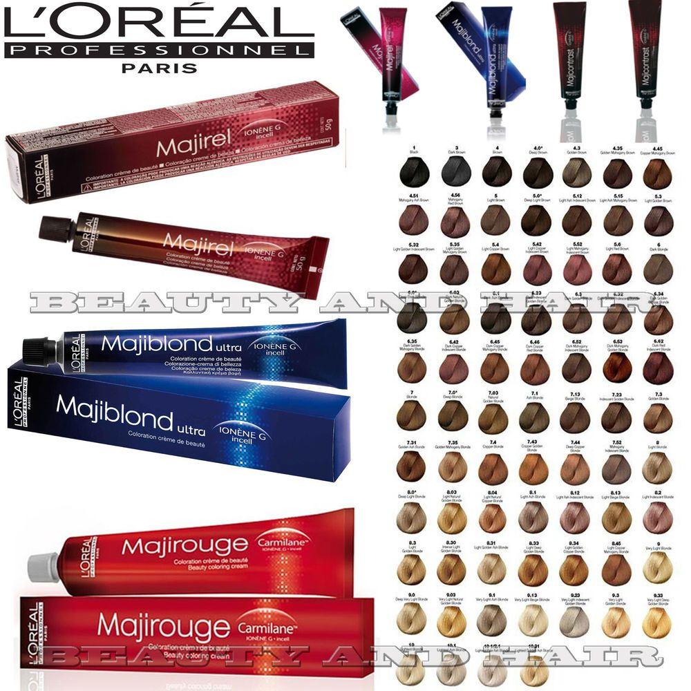 Loreal Professional Majirel Majiblond Majirouge Long Lasting Hair