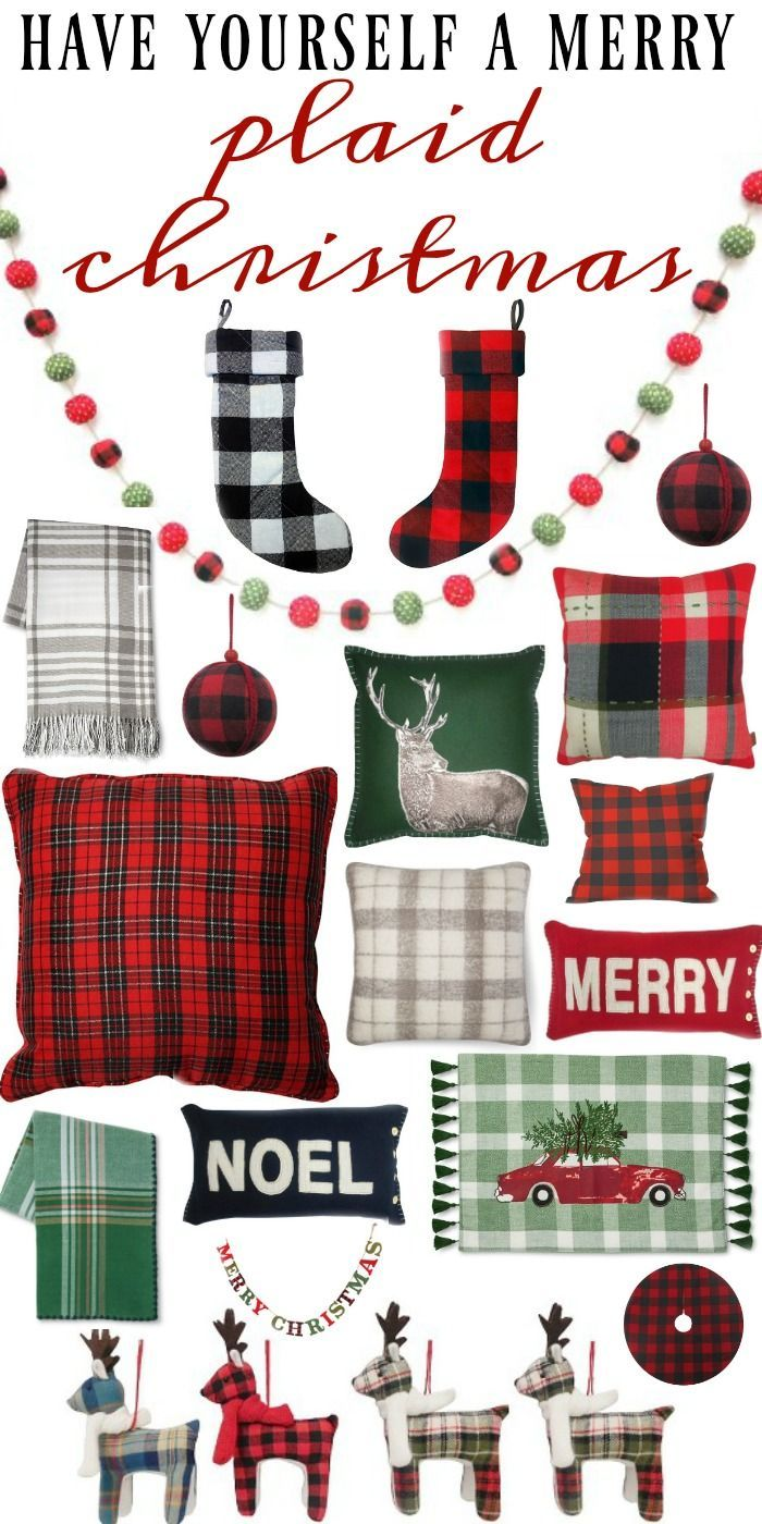 Plaid Christmas Decor All From Target