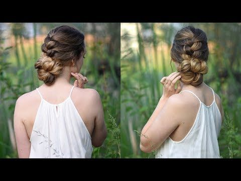 Cute Girls Hairstyles Youtube Knotted Braid Updo  Homecoming Hair  Cute Girls Hairstyles