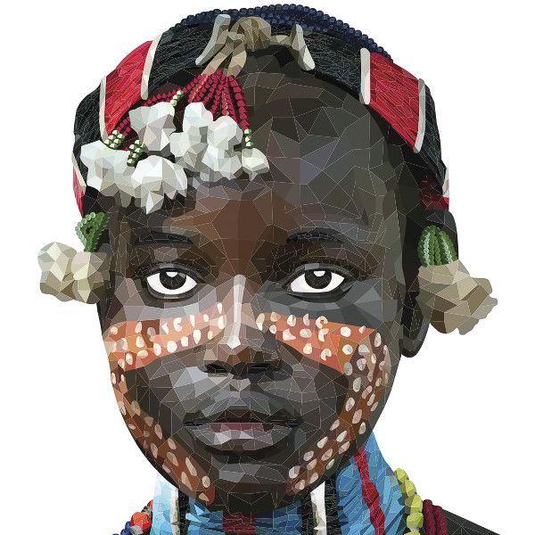 Masai - art print