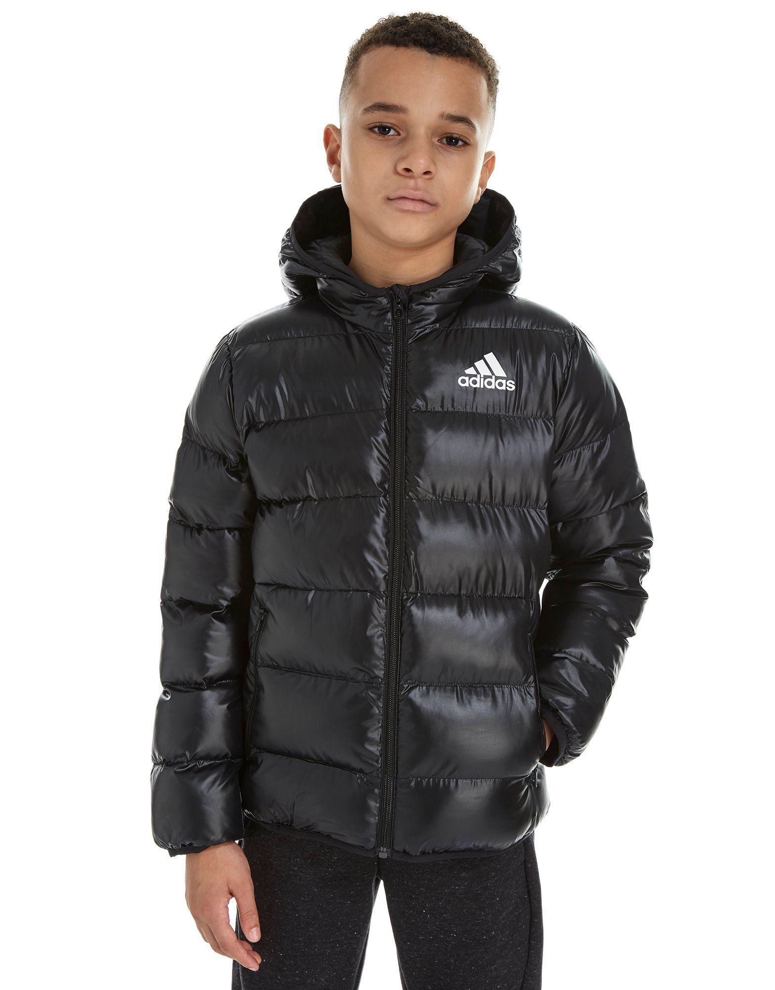 adidas Hooded Bomber Jacket Junior | Adidas | Hooded bomber