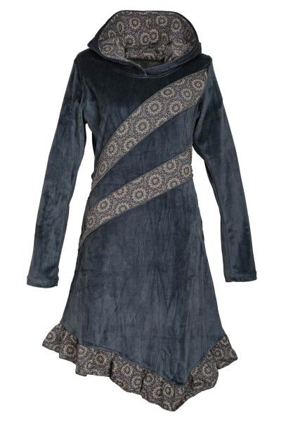 Elfenkleid aus Baumwollsamt mit Zipfelkapuze, Alternatives ...