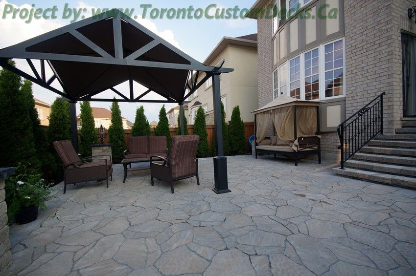 Canopy tent over the seating area. #DeckDesign #patio #Toronto