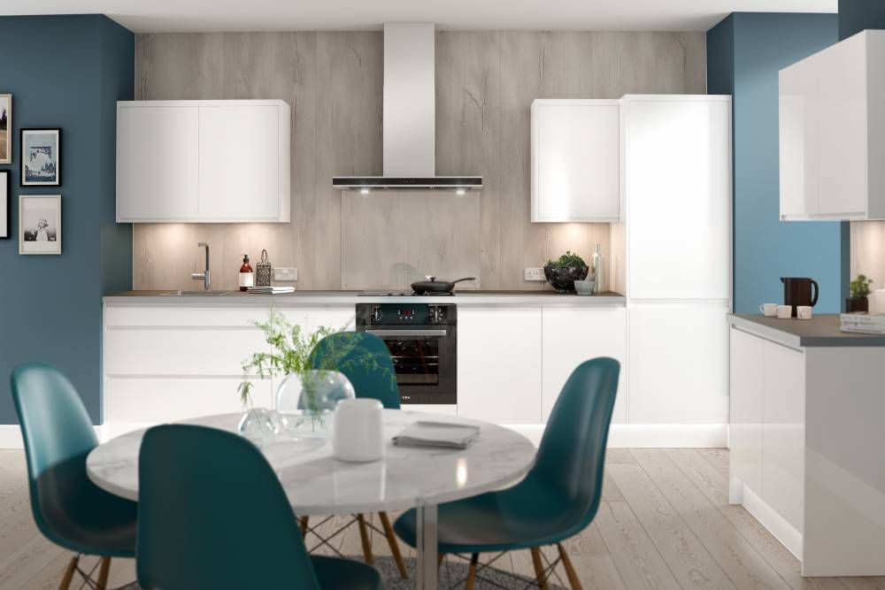 j pull kitchen in gloss white kitchen white gloss kitchen wren kitchen kitchen appliances layout on j kitchen id=91087