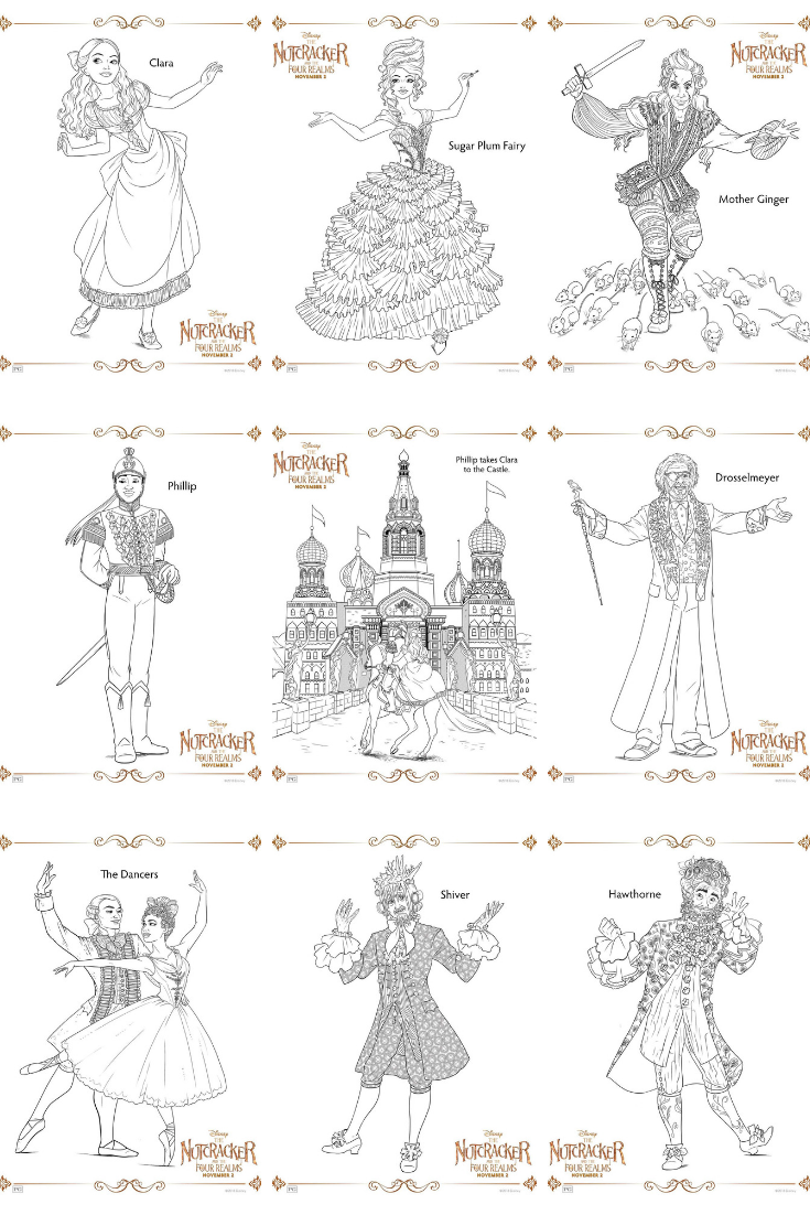 Disney S The Nutcracker And The Four Realms Coloring Pages Coloring Printables Disneysnutcrackers Coloringp Nutcracker Disney Coloring Pages Disney Colors [ 1102 x 735 Pixel ]