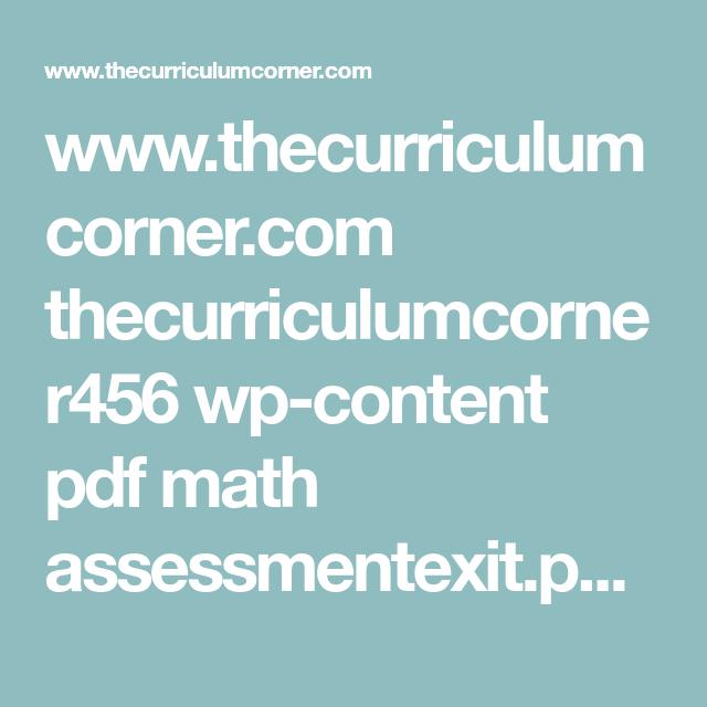 Www.thecurriculumcorner.com Thecurriculumcorner456 Wp