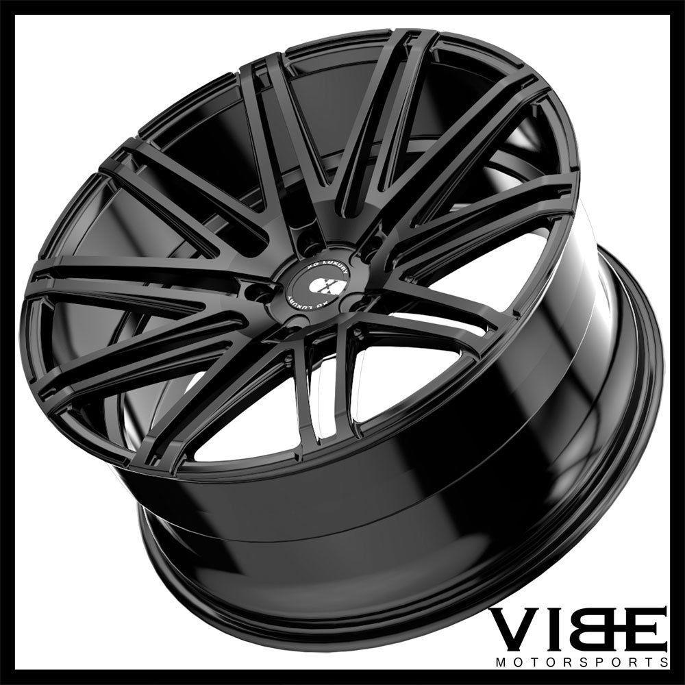 "19"" Xo Milan Black Concave Wheels Rims Fits Acura Tl"