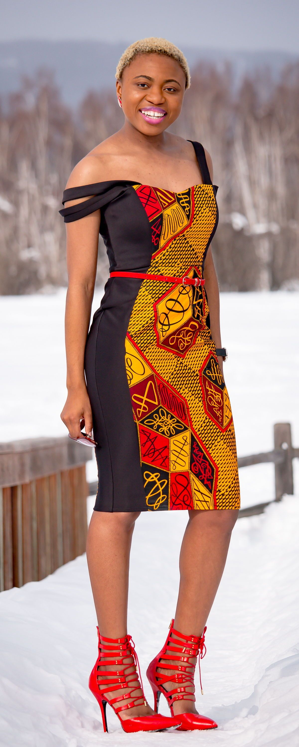 The african print offshoulder dress you need this year urban