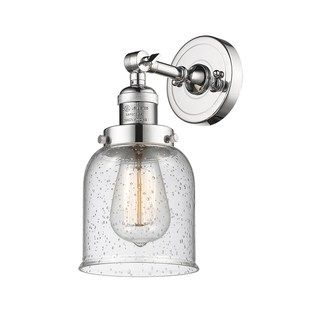 Innovations Lighting Small Bell Brass 1 Light Adjustable Sconce Led Polished Chrome Seedy Clear Sconces Innovations Lighting Adjustable Sconce