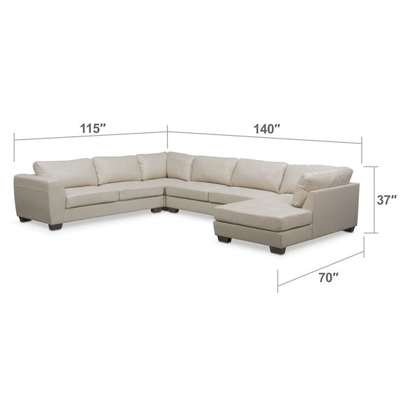 Incredible Santana 4 Piece Sectional With Chaise In 2019 Living Room Andrewgaddart Wooden Chair Designs For Living Room Andrewgaddartcom