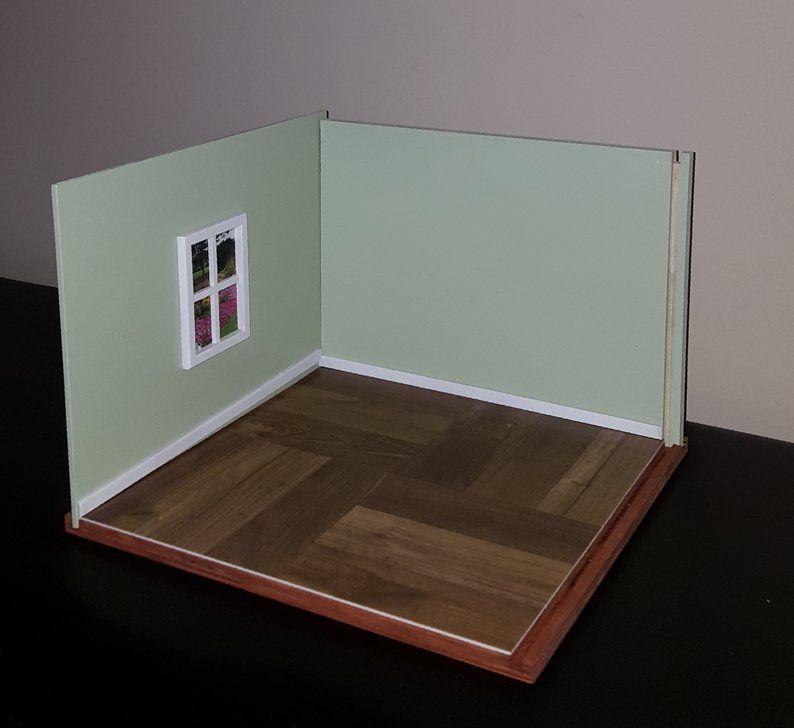 1 12 Scale Room Box Doll Room Box Diorama Box Unique Etsy Room Box Wall Boxes Handmade Furniture