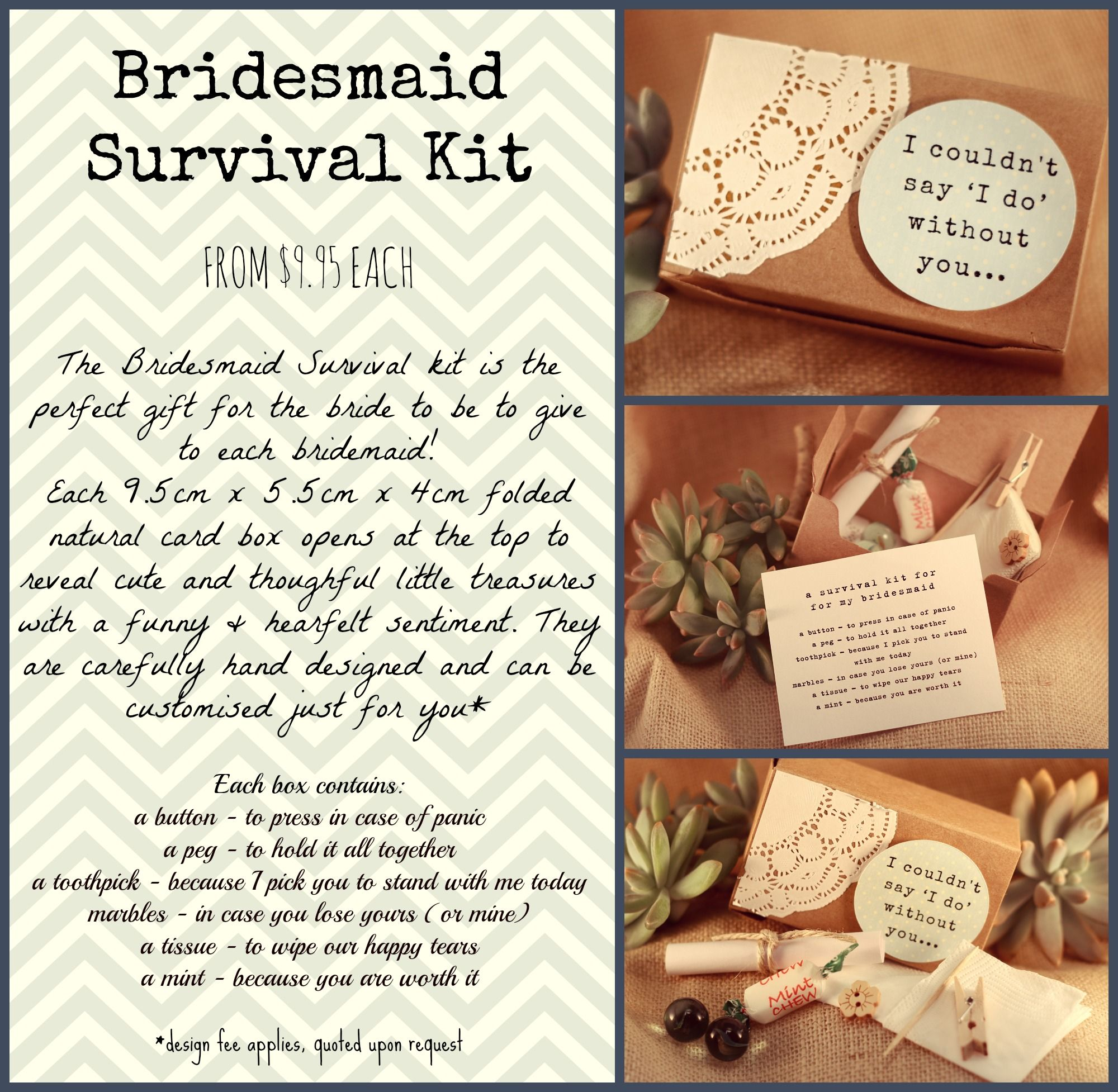Gift Ideas For Wedding Helpers: Handmade Uniquely Designed