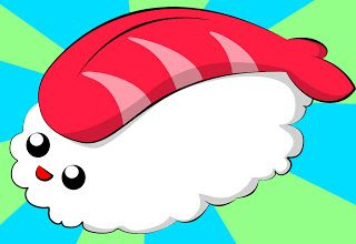 How To Draw Kawaii Sushi ~ Draw Central