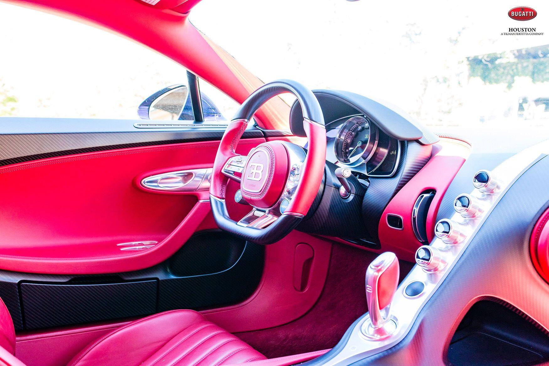 Bugatti Chiron From Bugatti Houston Interior Italian Red Leather