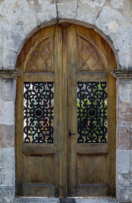 Fine art photograph - Courtyard Door in Villereal - by Georgia Fowler