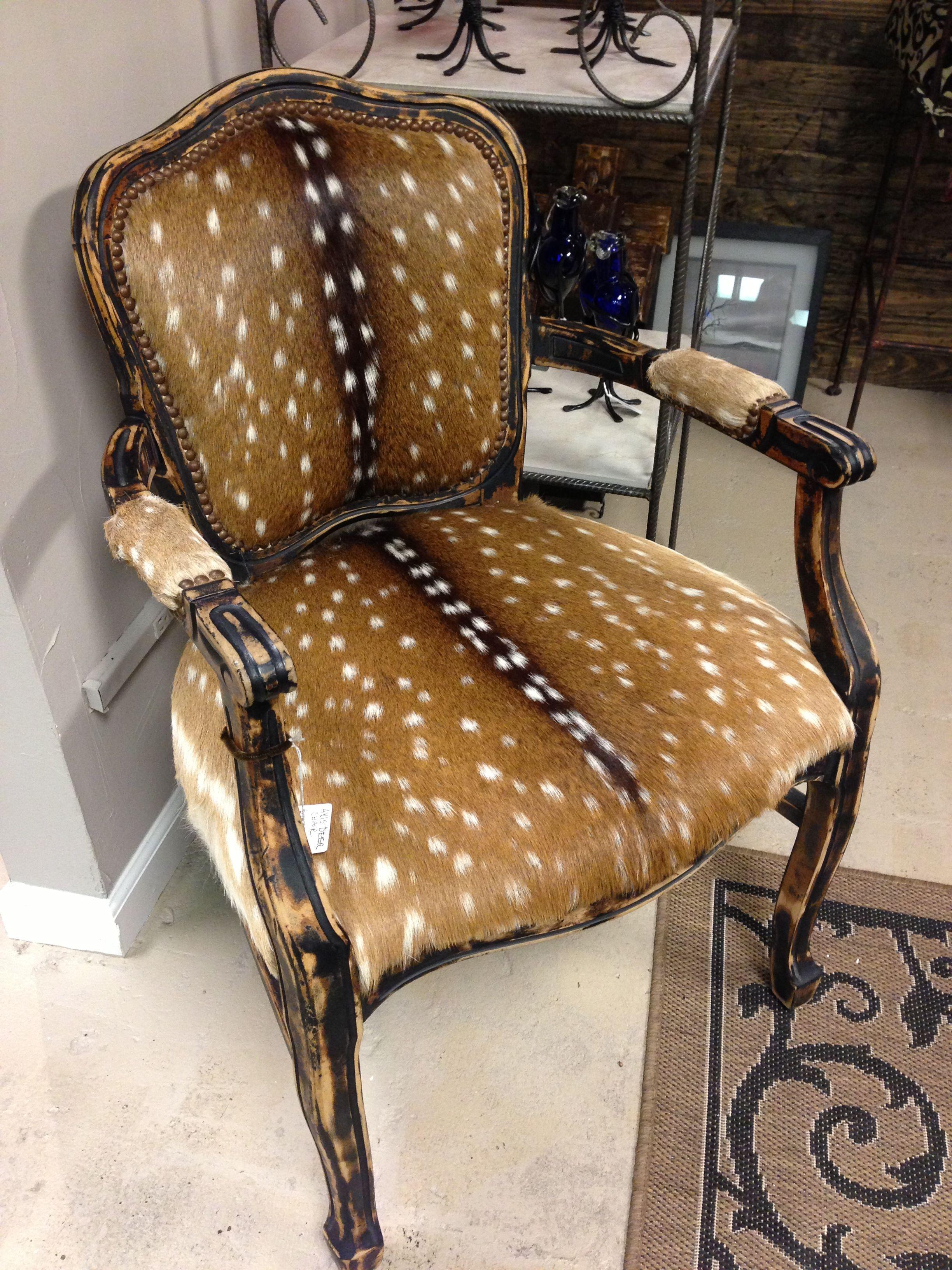 Deer Chair 1 995 Axis Deer Skin Chair One Of A Kind