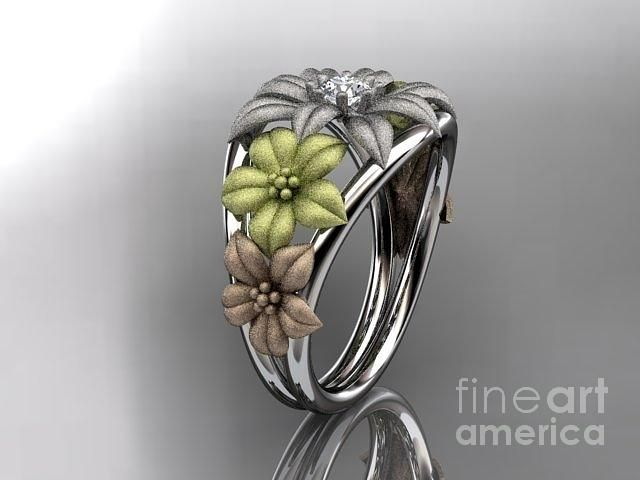 tricolor flower ring Google Search Jewelry Pinterest