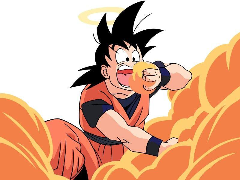 Goku Eating Clouds Lol Cartoon Wallpaper Hd Dragon Ball Z Anime