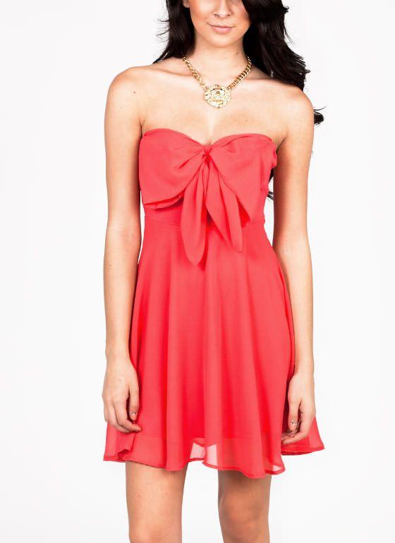 chiffon bow tube dress $34.70  http://www.gojane.com/77603-dresses-chiffon-bow-tube-dress.html
