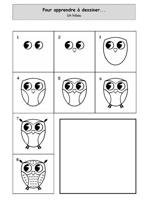 Apprendre A Dessiner Un Hibou Hibou Dessin Apprendre A Dessiner